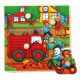 Wooden puzzles with thumbtacks TOP BRIGHT - Straz