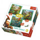Puzzle 3in1 - The amazing world of dinosaurs