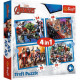 Puzzle Avengers Puzzle 4in1 Courageous Avengers