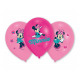 Birthday Balloons Mouse Minnie - 27 cm - 6 pieces