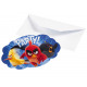 Birthday invitations with envelopes Angry Birds