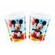 Mickey Mouse Birthday Cups - 200 ml - 8 items