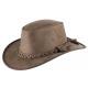 Leren hoed Porter bruin maat L