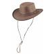 Henbury bruin leren hoed maat XL
