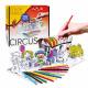 kreatives Set für Farbe Zirkus Buntstifte Pud