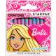 wax crayons 12 colors starpak Barbie pud