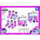 MY LITTLE PONY - pack 3 chaussettes 70% cotton 18%