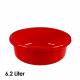 Kom, 6,2 liter, d = 30,5 cm, hoogte 12 cm, rood