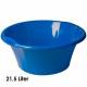Kom, 21,5 liter, d = 50 cm, hoogte 21 cm, Blauw
