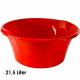 Kom, 21,5 liter, d = 50 cm, hoogte 21 cm, rood