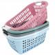 Laundry basket, 20 x 55 x 37 cm, natural pastel,