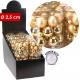 Christmas tree balls, glass, d = 2.5cm, gold, 24 D