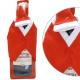 Bottle decoration, 11x3x33 cm, Christmas jacket +