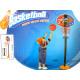 Panier de basket avec support et boule