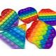 Pop it push Antistress Spielzeug Rainbow