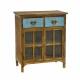 Mueble 2 cajones 2 puertas azul 56 x 30,5 x 64,5