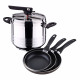 Swiss home 7 liter pressure cooker and set of sa