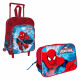 Spiderman Infant Set: Backpack with wheels and nee