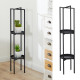 Standing shelf round, black, small, approx. 100 cm