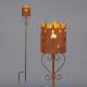 Lampe torche de jardin, rouillée, S, hauteur env.9
