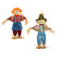 Decorative scarecrow jeans on wooden base, large,