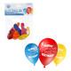 Luftballons, rund, ca. 22cm D, Happy Birthday, 5er