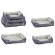 Hondenbed, basic, set van 3, grijs / antraciet