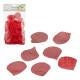 Décor à saupoudrer, pétales de rose, rouge, 150 pi