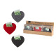 Money gift heart felt 3- times assorted in gift