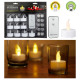 Lot de 10 bougies chauffe-plat LED avec télécomman