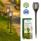LED solar torch, real. Flame flicker 52 cm high