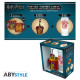 HARRY POTTER - Package Glass 29cl + Keyring + Mini