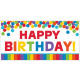 Giant Party Sign Birthday Accessories - Primary
