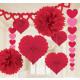 Deco set Valentine's Day paper 9 pieces