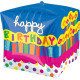 Cubez Birthday Cake Foil Balloon Packed 38x
