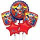 Csokor DC Super Hero Girls fólia ballon, verpac