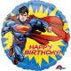 Standard ' Superman - HBD' foil balloon ro