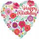 Estándar ' Happy Birthday - estampado de flore