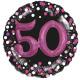 Multi Balloon Sparkling Pink 50 foil balloon verpa
