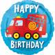Standard Geburtstag Feuerwehrauto Folienballon ver