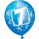 6 Latexballons Zahl 7 22,8 cm/9''