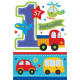 8 Invitation Cards All Aboard Birthday with Env