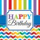 16 serviettes Bright Birthday 33 cm