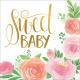 16 szalvéta Floral Baby 33 c