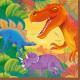 16 szalvéták Prehistoric Party 33 x 33 cm