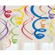 12 deco spirals rainbow 55.8 cm