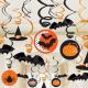 30 decorative spirals Halloween 18 cm / 12 cm