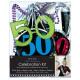 Fél készlet 6 darab 50. születésnapja