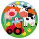 8 assiette Farm Fun 23 cm