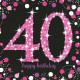 16 szalvéta 40 Csillogó ünneplés - Rózsaszín 33 x